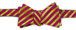 Ike Behar Party Stripe Silk & Cotton Bow Tie