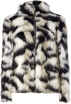 Dorothy Perkins Black and White Faux Fur Coat