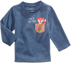 First Impressions Fox-Print Pocket T-Shirt, Baby Boys (0-24 months), Created for Macy's