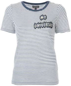 Emporio Armani patch-appliqué striped T-shirt