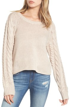 BP Women's Cable Sleeve Pullover