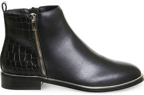Office Abbie croc-panel ankle boots