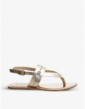 Office Salute metallic sandals