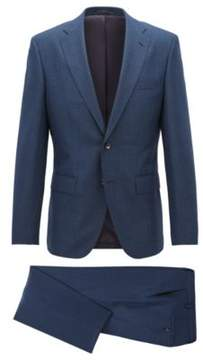 BOSS Hugo Wool Suit, Regular Fit Johnstons/Lenon 36R Dark Blue