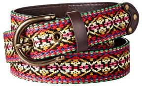 Mossimo Women's Tribal Pattern Belt - Red & Tan