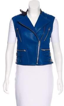 Celine Leather Moto Vest