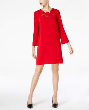 Alfani Lace-Trim Bell-Sleeve Dress, Created for Macy's