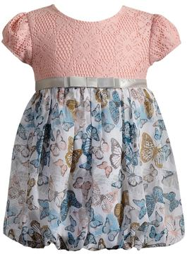 Youngland Baby Girl Floral & Crochet Lace Bubble Dress