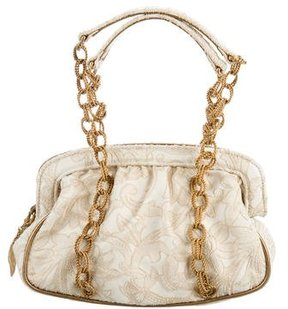 Dolce & Gabbana Floral Jacquard Top Handle Bag - NEUTRALS - STYLE