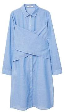 MANGO Cotton long shirt
