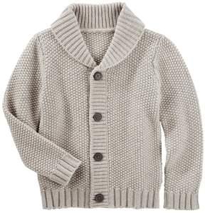 Osh Kosh Toddler Boy Waffle Knit Shawl Sweater