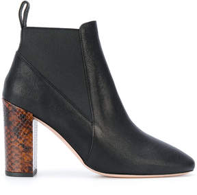 Paul Smith snakeskin effect heel ankle boots