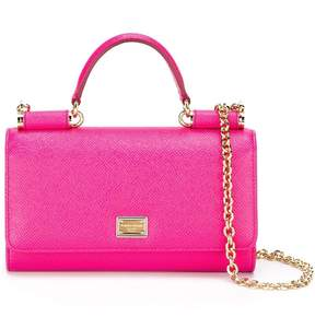 Dolce & Gabbana mini Von wallet crossbody bag - PINK & PURPLE - STYLE