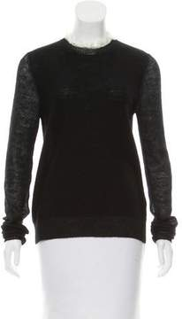 Celine Wool Keyhole-Accented Top