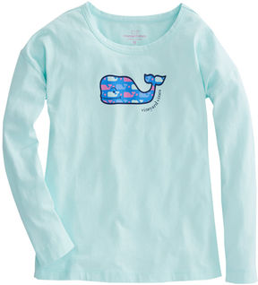Vineyard Vines Girls Long-Sleeve Whale Dot Swing Tee