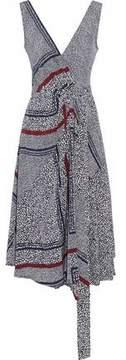 Derek Lam 10 Crosby Belted Printed Silk Wrap Dress