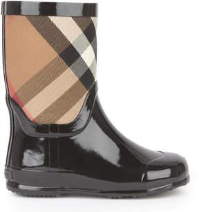 Burberry Check print rain boots