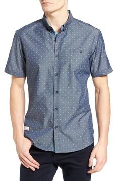 7 Diamonds Men's Everlasting Light Print Chambray Shirt