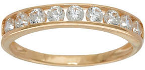Diamonique Channel Set Band Ring, 14K Gold