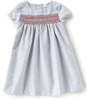 Edgehill Collection Little Girls 2T-4T Dotted Smocked Dress