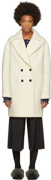 Carven Ivory Boule Coat