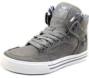 Supra Vaider Youth Round Toe Canvas Gray Skate Shoe.