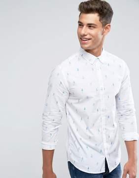 Blend of America Pin Up Girl Shirt Long Sleeve
