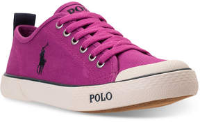 Polo Ralph Lauren Girls' Carlisle Iii Casual Sneakers from Finish Line