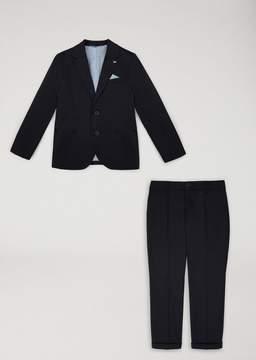 Armani Junior Stretch Cotton Suit