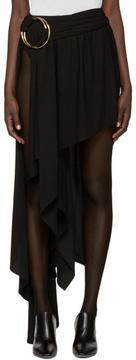 Anthony Vaccarello Black Asymmetric Double Hoop Skirt