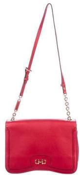 Salvatore Ferragamo Leather Gancini Flap Bag