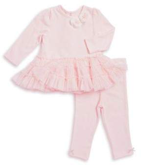 Little Me Baby Girl's Two-Piece Bloom Top and Leggings Set