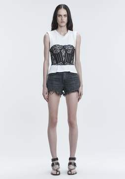 Alexander Wang BITE CUT OFF DENIM SHORTS DENIM