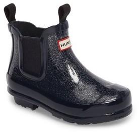 Hunter Toddler Girl's Originals Glittery Waterproof Chelsea Boot