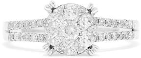 Effy Jewelry Effy Bouquet 14K White Gold Diamond Cluster Engagement Ring, 0.56 TCW
