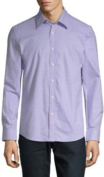 Hyden Yoo Men's Plaid-Print Slim-Fit Cotton Button-Down Shirt