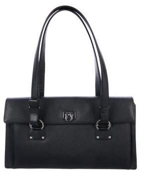 Salvatore Ferragamo Leather Gancio Shoulder Bag