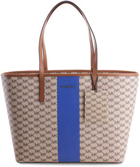 Michael Kors Natural & Electric Blue Stripe Emry Tote - NATURAL - STYLE