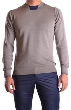 Armani Collezioni Men's Grey Cotton Sweater.