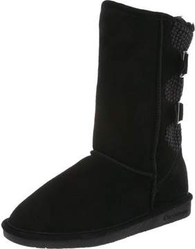 BearPaw Women's Boshie Black Ankle-High Suede Boot - 10M