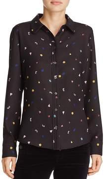Cooper & Ella Fernanda Insect-Print Pajama-Inspired Top