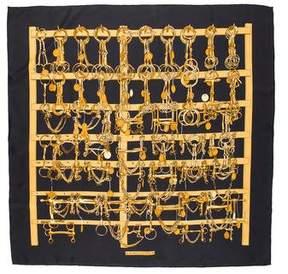Hermes Mors Et Filets Silk Scarf