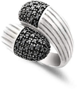 Effy Balissima by Black Diamond Wrap Ring (5/8 ct. t.w.) in Sterling Silver