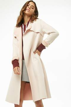 Forever 21 Faux Suede Trench Coat