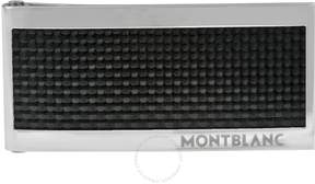 Montblanc Steel and Black Carbon Money Clip
