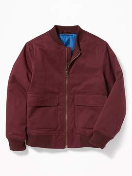 Old Navy Canvas Built-In Flex Utility Bomber Jacket for Boys