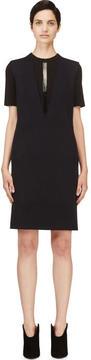 Calvin Klein Collection Navy Cashmere Plaited Tech Nuria Dress