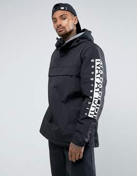 Napapijri Tier 1 Asher Jacket in Black with Logo Arm Detail