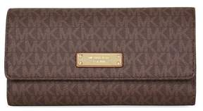 Michael Kors Jet Set PVC Checkbook Wallet - Brown - BEIGE - STYLE