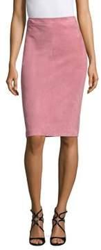 Escada Laris Suede Pencil Skirt